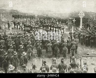Memorial to 1st Australian division dead - Stock Photo