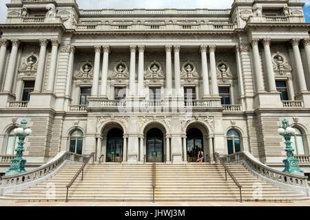Thomas Jefferson Building, Library of Congress, Capitol Hill, Washington DC - Stock Photo