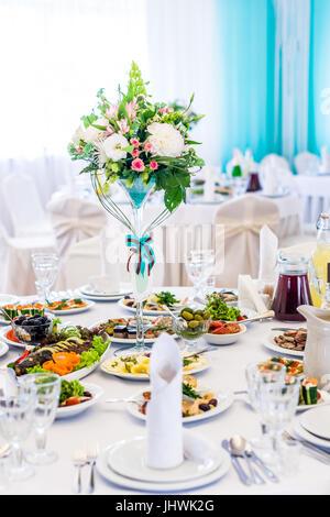 The elegant dinner table - Stock Photo