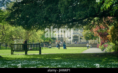 Lewes, England - May 22 2017: Grange Gardens, Lewes.  Jane Austen visited the Grange and set her abandoned novel - Stock Photo