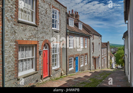 Lewes, England - May 22 2017: Keere Street, Lewes. Popular legend recalls that the Prince of Wales (future George - Stock Photo