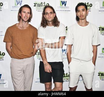 Bala Cynwyd, PA, USA. 15th July, 2017. American Indie Pop Band Sir Sly Visit Radio 104.5's Performance Theatre. - Stock Photo
