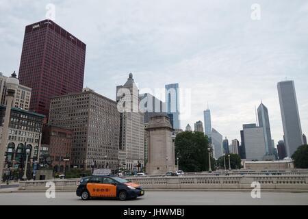 The Chicago skyline, Chicago, IL, USA. - Stock Photo