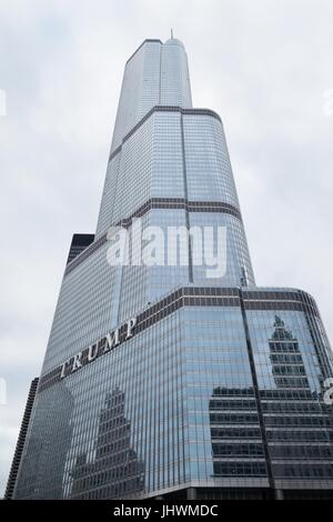 Trump International Hotel and Tower in Chicago, IL, USA. - Stock Photo