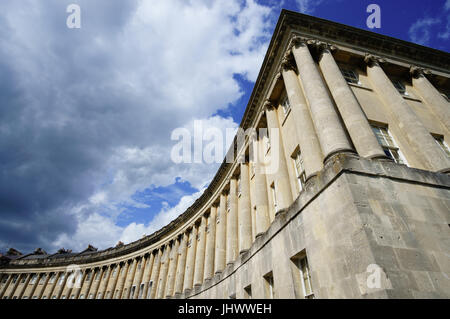 The Royal Crescent, Bath - Stock Photo