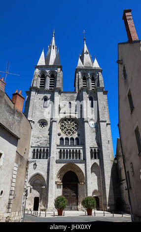 Medieval Saint Nicholas church in Blois, France. - Stock Photo