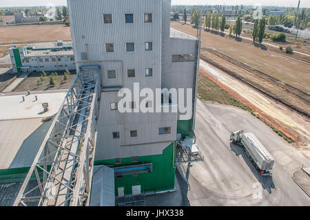 agricultural large industrial factory farm - Stock Photo