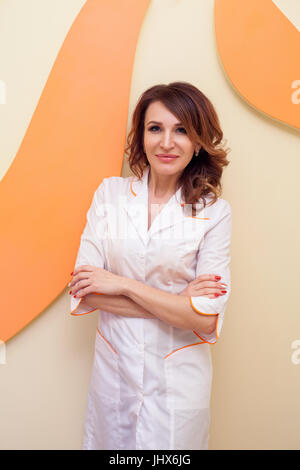 Portrait of a medicine doctor beautician - Stock Photo