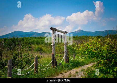 PRIMORYE TERRITORY, RUSSIA – JUNE 29, 2017: A route to Lake Blagodatnoye at the Sikhote-Alin Nature Reserve in Russian - Stock Photo
