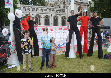 London, UK. 16th July, 2017. carnival against the cuts rallied at Parliament square, london UK Credit: Philip Robins/Alamy - Stock Photo