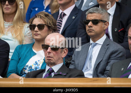 Wimbledon, London, UK. 16th July, 2017. The Wimbledon Tennis Championships 2017 held at The All England Lawn Tennis - Stock Photo