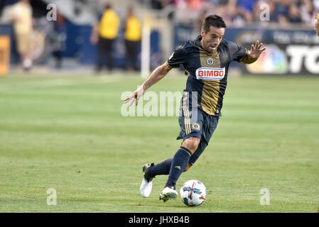 Chester, Pennsylvania, USA. 15th July, 2017. Philadelphia Union midfielder ILSINHO (25) shown during an international - Stock Photo