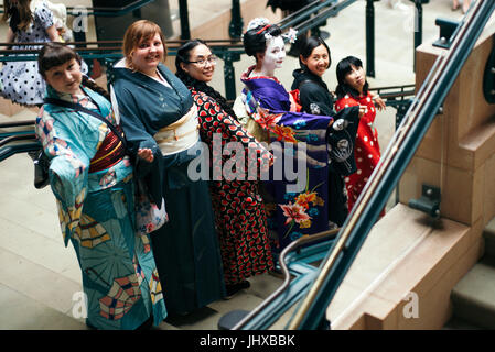 London, UK. 16th, July, 2017.  Hyper Japan Festival, celebrating culture, food, entertainment and all things Otaku, - Stock Photo