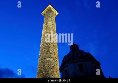Trajan's Forum, Imperial Forum of Caesar and Agustus, Trajan's Column, Viaggio nei fori Roma - Stock Photo
