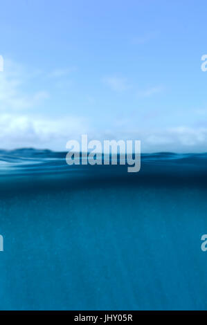 Perfect sky and water background of ocean