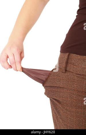 empty pockets, private insolvency - empty pockets, leere Taschen, Privatinsolvenz - empty pockets - Stock Photo