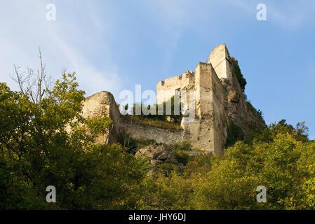 Ruin D?rnstein, Austria, Lower Austria, Wachau, D?rnstein - ruin in Duerstein, Austria, Lower Austria, Wachau region, - Stock Photo
