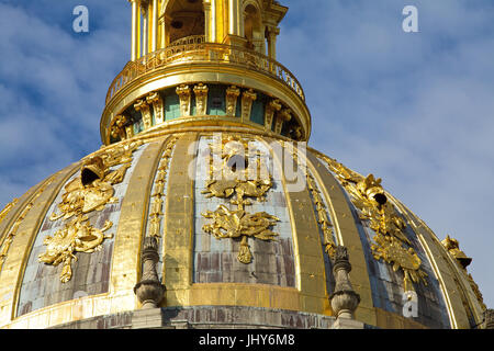 Cathedrals of the invalid (invalid's cathedral), Paris, France - cathedrals of the invalid, Paris, France, Dome - Stock Photo
