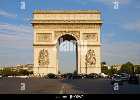 Arc de Triomphe in the Champs-Elysees, Paris, France - Arc de Triomphe At Champs-Elysees, France, Paris, Arc de - Stock Photo