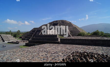 Teotihuacan city of the gods, beautiful Mexican culture and beauty architecture  that will leave you speechless - Stock Photo