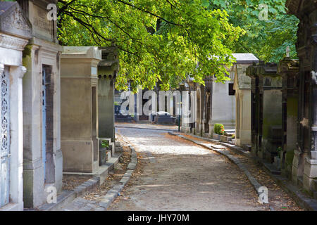 Cemetery Pere Lachaise, Paris, France - Cemetery Pere Lachaise, Paris, France, Friedhof Pere Lachaise, Frankreich - Stock Photo