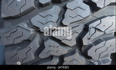truck Automobile tire tread close up - Stock Photo