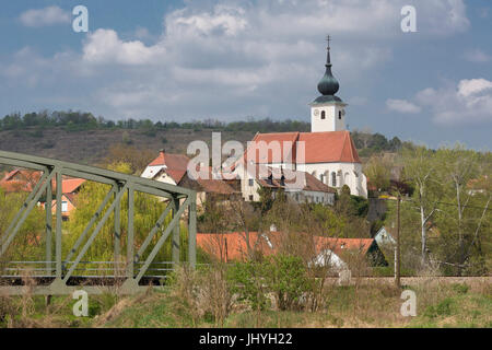 Stiefern in the Kamp, Kamptal, forest quarter, Lower Austria, Austria - Village pines, forest quarters region, Lower - Stock Photo