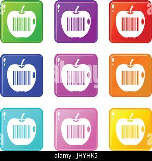 Code to represent product identification 9 set - Stock Photo