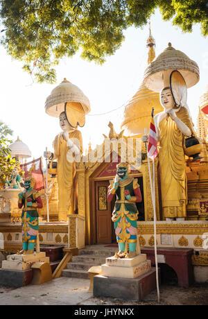 Buddhist Temple, Amarapura, Mandalay, Mandalay Region, Myanmar (Burma), Asia - Stock Photo