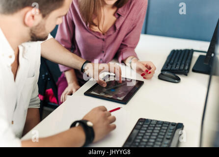 Team of architects and designers working in office. - Stock Photo