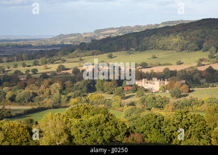 Sudeley Castle in autumn, Winchcombe, Cotswolds, Gloucestershire, England, United Kingdom, Europe - Stock Photo