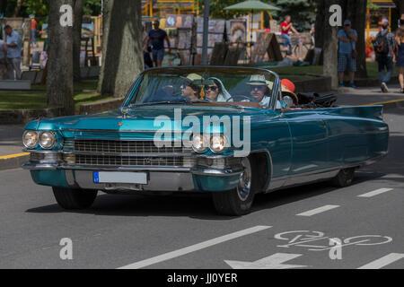Old Cadillac, Palanga, Lithuania. - Stock Photo