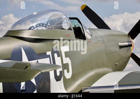 North American P-51D Mustang 'Frenesi' at the 2017 Flying Legends Air Show - Stock Photo