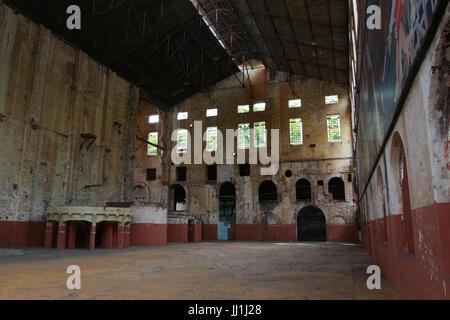 abandoned factory, interior, Piracicaba, São Paulo, Brazil - Stock Photo