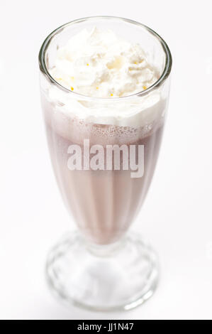 iced blended chocolate cocktail milk - Stock Photo