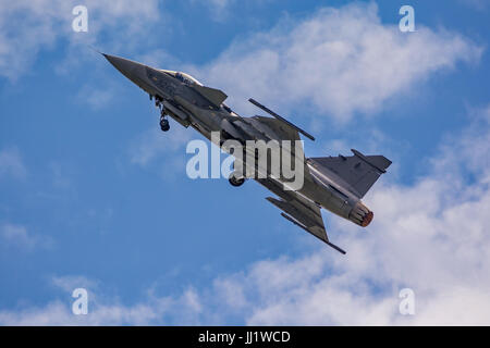 Czech Air Force JAS-39C Gripen at Yeovilton. - Stock Photo