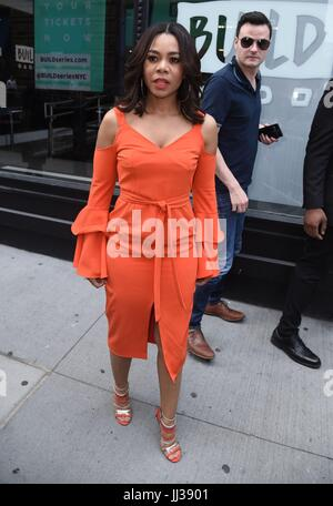 New York, NY, USA. 17th July, 2017. Regina Hall, out promoting her new film GIRLS TRIP out and about for Celebrity - Stock Photo
