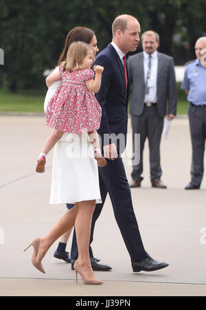 Warsaw, Poland. 17th July, 2017. Catherine Duchess of Cambridge, Princess Charlotte, Prince William and Prince George - Stock Photo