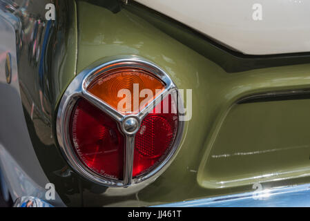 Classic ford cortina rear light cluster - Stock Photo