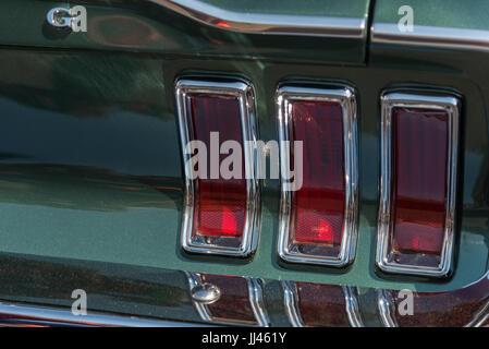 Shelby mustang rear lights - Stock Photo