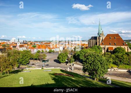 Erfurt city in Germany - Stock Photo