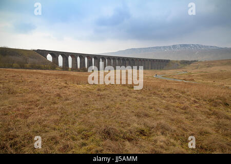 Ribblehead Viaduct leading Path - Stock Photo