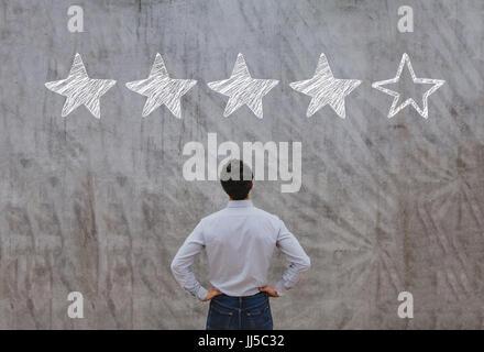reputation management concept, feedback rating - Stock Photo