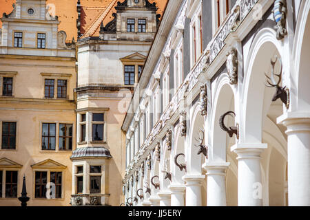Dresden city in Germany - Stock Photo