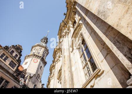 Dresden city in Germany - Stock Photo