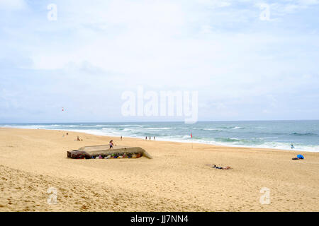 Plage des Casernes Beach in Southern France, near Seignosse Stock Photo