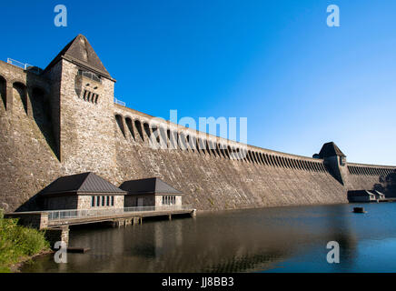 DEU, Germany, Sauerland region, Moehnesee, Moehnesee water supply dam.  DEU, Deutschland, Sauerland, Moehnesee, - Stock Photo