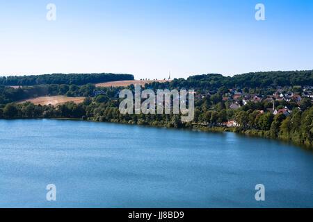 DEU, Germany, Sauerland region, Moehnesee, the village Guenne at the Moehnesee water supply dam.  DEU, Deutschland, - Stock Photo