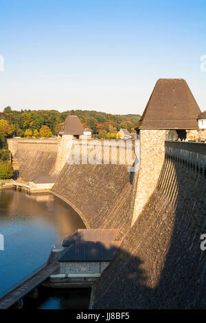 DEU, Germany, Sauerland region, Moehnesee, Moehnesee water supply dam.  DEU, Deutschland, Sauerland, Moehnesee, - Stock Photo