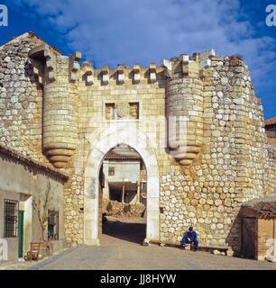 Old Castillian Town Gate. Hita (Guadalajara) Spain Hita is a municipality in the comarca of La Alcarria, in the - Stock Photo